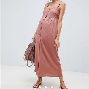 ASOS Maternity linen button through maxi dress